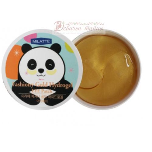 Milatte Патчи для кожи вокруг глаз гидрогелевые с золотом Fashiony Gold Hydrogel Eye Patch