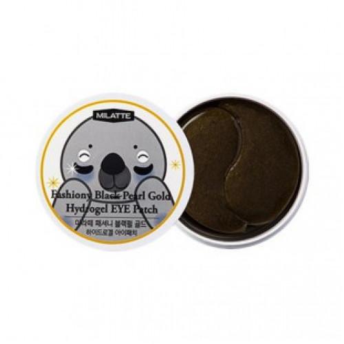Milatte Патчи для кожи вокруг глаз с черным жемчугом и золотом Fashiony Black Pearl Gold Hydrogel Eye Patch