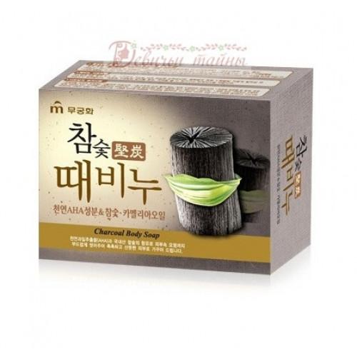 Mukunghwa Мыло-скраб древесный уголь Hardwood Charcoal Scrub Soap