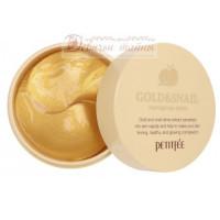 Petitfee Патчи для глаз гидрогелевые с золотом и экстрактом улитки Gold & Snail Eye Patch