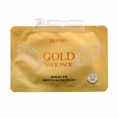 Petitfee Патч для области шеи гидрогелевый Gold Neck Pack