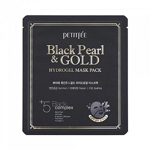 Petitfee Маска для лица с золотом и черным жемчугом Black Pearl & Gold Hydrogel Mask Pack