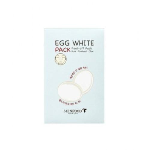 Skinfood очищающие полоски для носа egg white peel off nose pack