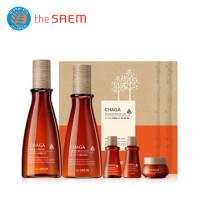 The Saem Набор антивозрастной с экстрактом чаги Chaga Anti-Wrinkle Skin Care 2 Set