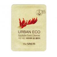 The saem пенка для умывания увлажняющая urban eco harakeke foam cleanser (пробник)