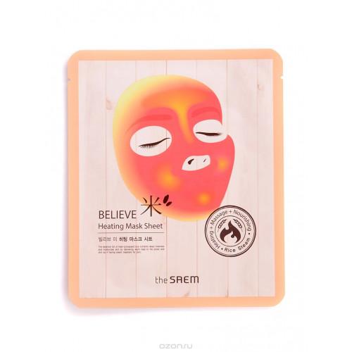 The Saem Маска для лица согревающая Believe Me Heating Mask Sheet