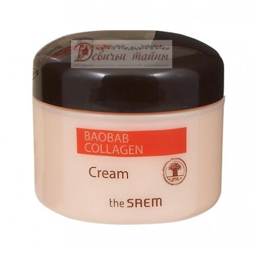 The Saem Крем коллагеновый баобаб Care Plus Baobab Collagen Cream