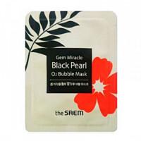 The Saem Маска кислородная с экстрактом жемчуга Gem Miracle Black Pearl O2 Bubble Mask (пробник)