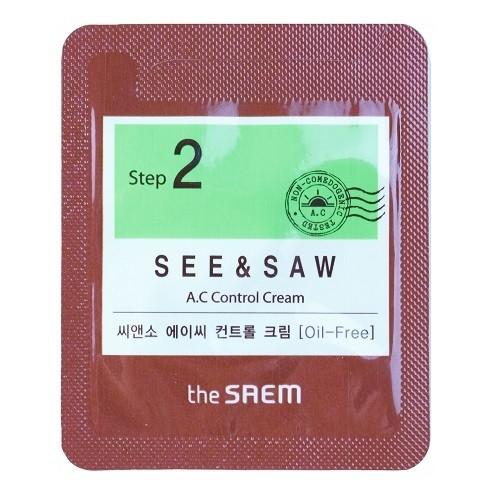 The Saem Крем для контроля чистоты и жирности кожи See & Saw Ac Control Cream (пробник)