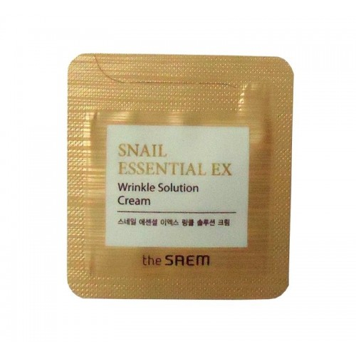 The Saem Крем антивозрастной Snail Essential EX Wrinkle Solution Cream  (пробник)