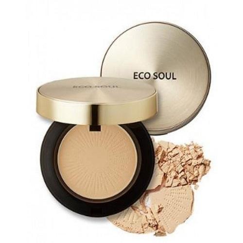 The Saem Пудра компактная золотая Eco Soul Luxury Gold Pact