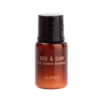 The saem эмульсия контроль чистоты и жирности кожи see & saw ac control emulsion (пробник)