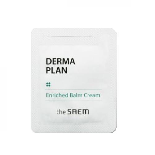 The Saem Крем-бальзам для чувствительной кожи Derma Plan Enriched Balm Cream  (пробник)