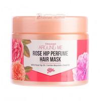 Welcos Маска для поврежденных волос Around me Rose Hip Perfume Hair Mask