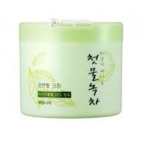 Welcos Крем очищающий Green Tea Fresh Cleansing Cream