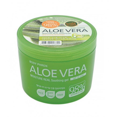WelcosГель для лица и тела успокаивающий Aloe vera Moisture Real Soothing Gel