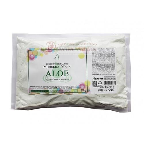 Anskin Маска альгинатная с экстрактом алоэ Aloe Modeling Mask 240 g
