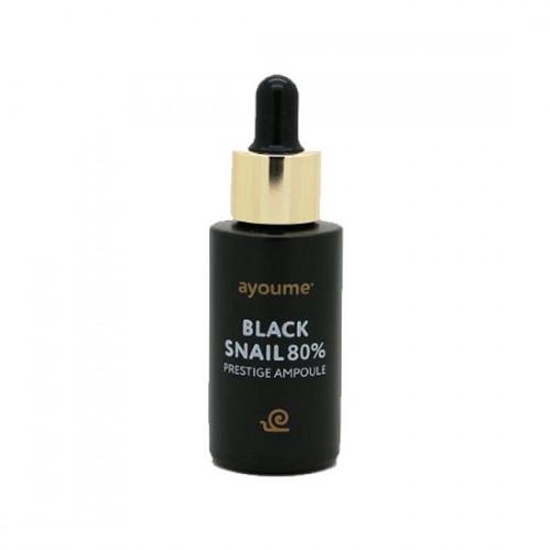 Ayoume Сыворотка для лица с муцином черной улитки Black Snail Prestige Ampoule