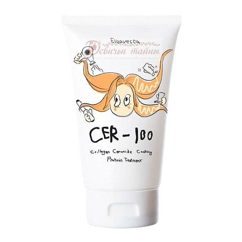 Elizavecca Маска для волос коллаген-керамиды CER-100 Collagen Ceramid Coating Protein Treatment