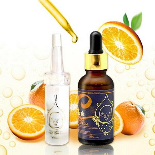 Elizavecca Пудра витаминная + Омолаживающая сыворотка от пигментных пятен Vitamin C 100% powder + Vita Multi Whitening Souce Serum