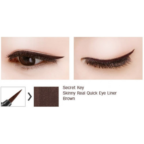 Secret key подводка для глаз skinny real quick eye liner