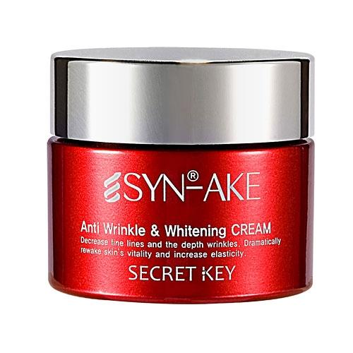 Secret key крем для лица с пептидом змеиного яда syn-ake anti wrinkle & whitening cream